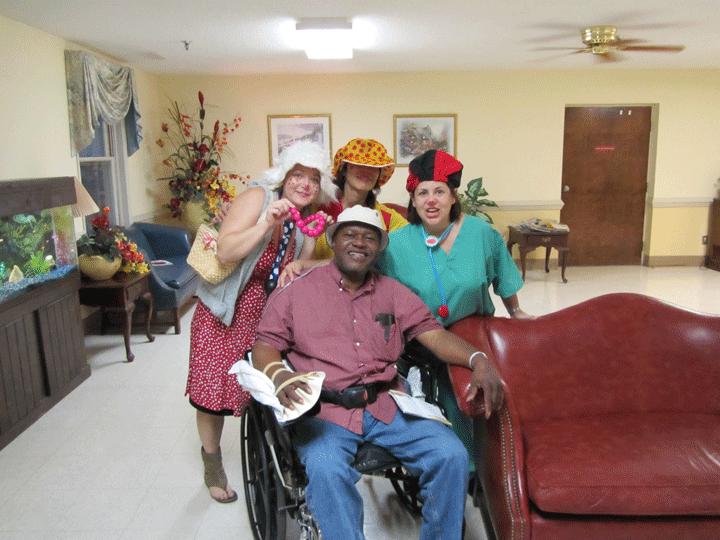 WorldLegacy Leadership Graduates Stretch For Elderly